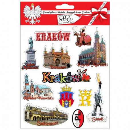 Autocollants convexes Cracovie
