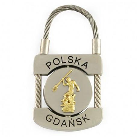 Brelok metalowy, kłódka Gdańsk