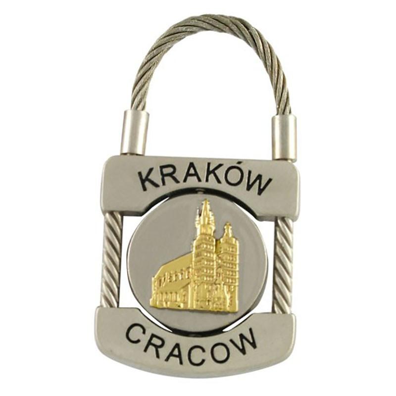 Porte-clés en métal, cadenas Cracovie