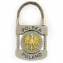 Brelok metalowy, kłódka Polska