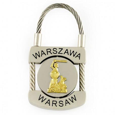 Llavero de metal, candado de Varsovia