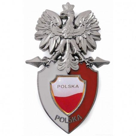 Imán Águila sentada en un escudo