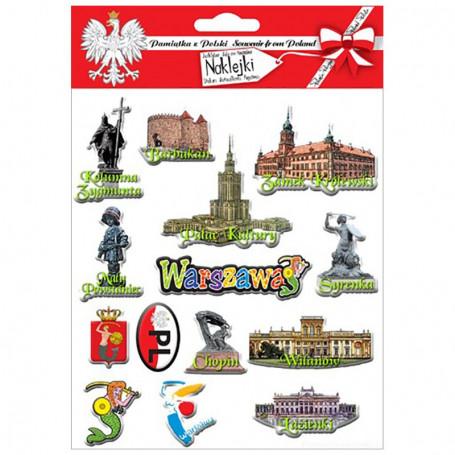 Pegatinas convexas Varsovia