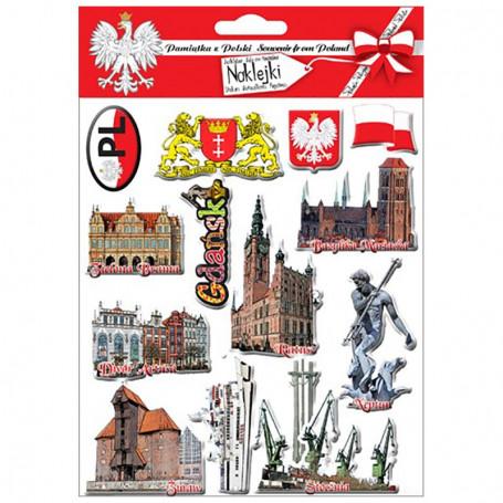 Autocollants convexes Gdańsk