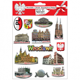 Autocollants convexes Wroclaw