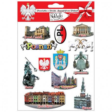 Išgaubti lipdukai Poznań
