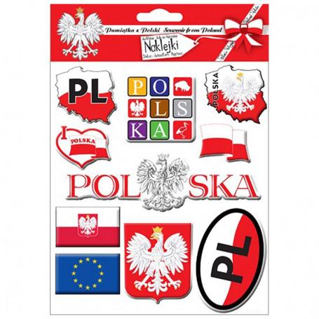 Konvexe Aufkleber Polen