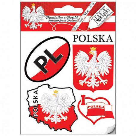 Naklejki zestaw Polska