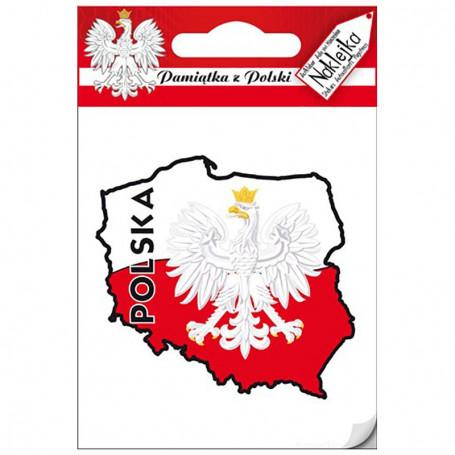 Vienas lipdukas - Lenkijos konturas
