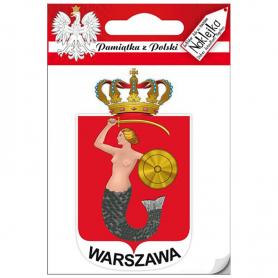 Naklejka pojedyncza herb Warszawa