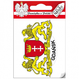 Naklejka pojedyncza herb Gdańsk