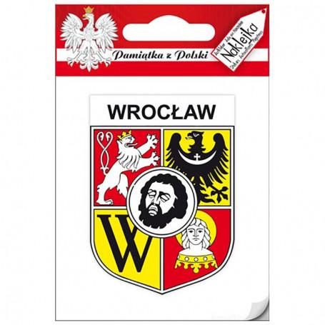 Etiqueta engomada solo escudo de armas Wroclaw