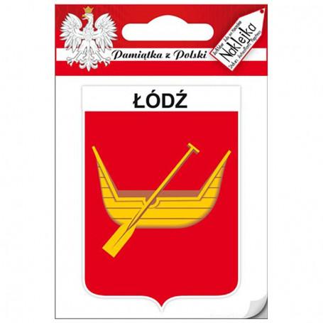Naklejka pojedyncza herb Łódź