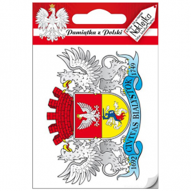 Single sticker coat of arms Bialystok