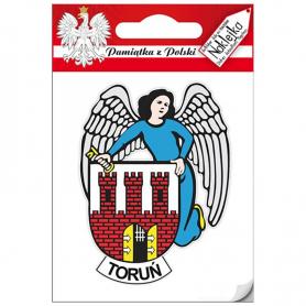 Naklejka pojedyncza herb Toruń