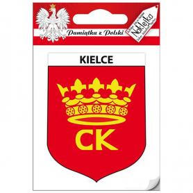 Single sticker coat of arms Kielce