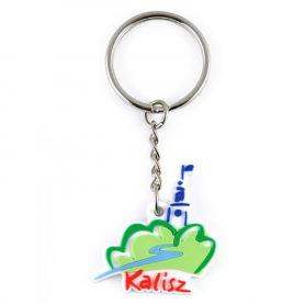 Keyring rubber Kalisz logo