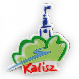 Rubber fridge magnet Kalisz logo