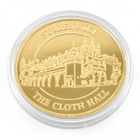 Souvenir coin Cracow golden color