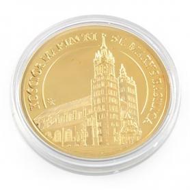 Souvenir coin Cracow St. Mary's Basilica golden color