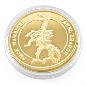 Souvenir coin Cracow dragon golden color