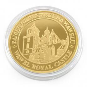 Souvenir coin Cracow Wawel golden color