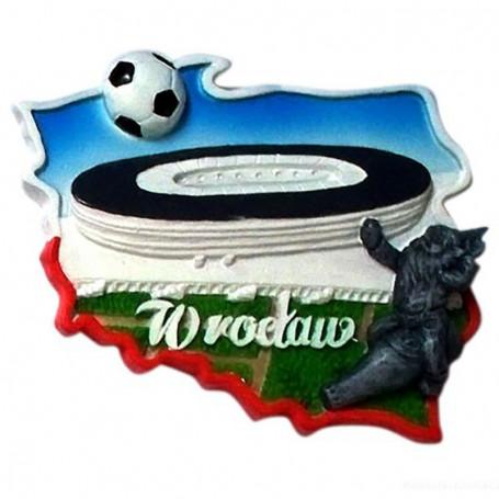 Imán contorno estadio de Wroclaw