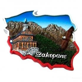 Fridge magnet, Poland shaped, Zakopane