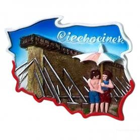 Fridge magnet, Poland shaped, Ciechocinek