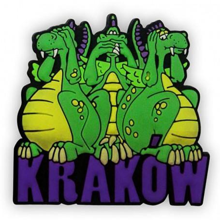 Imán de goma - 3 dragones Cracovia