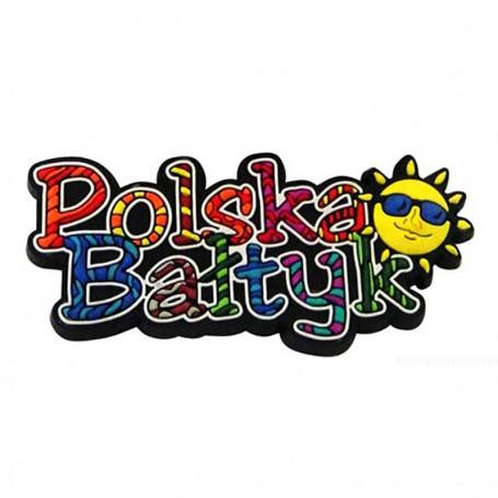 Magnes gumowy - napis Polska Bałtyk