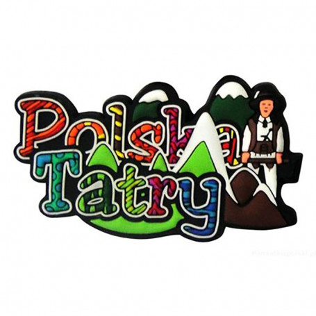 Imán de goma - la inscripción Polska Tatry