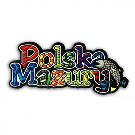Magnes gumowy - napis Polska Mazury