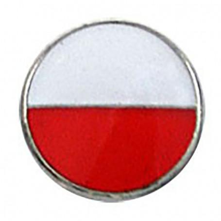 Przypinka, pin flaga Polska okrągła