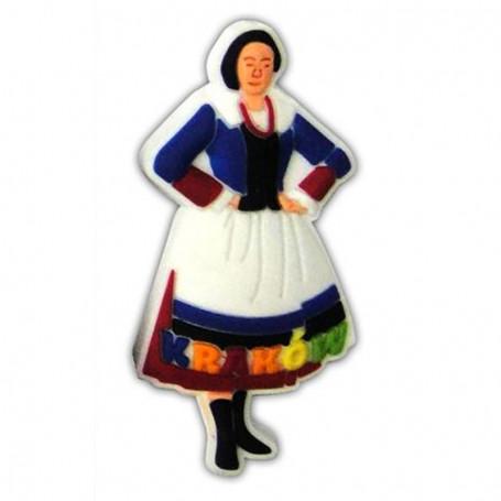 Gumos magnetas - moteru kostiumas Krokuvoje