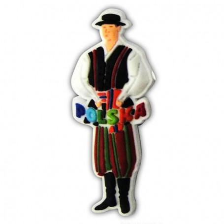 Imán de goma - traje popular Polonia macho