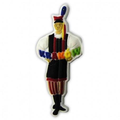 Imán de goma - traje Cracov macho
