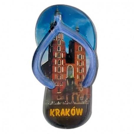 Clip de plástico imán - aletas de Cracovia