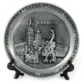 Souvenir metal plate Cracow