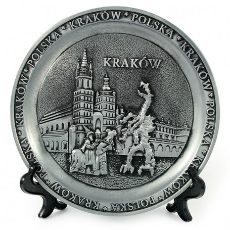 Placa de metal. Cracovia