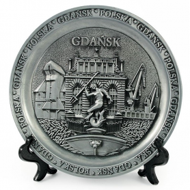 Plaque de métal Gdańsk