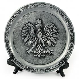 Souvenir metal plate Poland