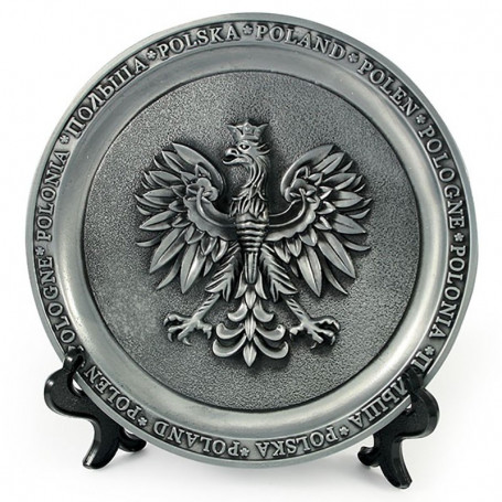 Placa de metal Polonia