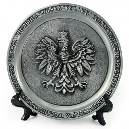 Plaque de métal Pologne
