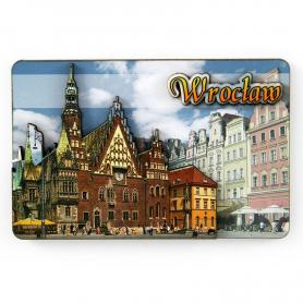 MDF fridge magnet Wroclaw Town Hall