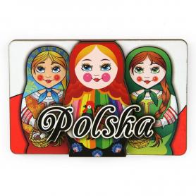 MDF Polska Matrioszki Magnet