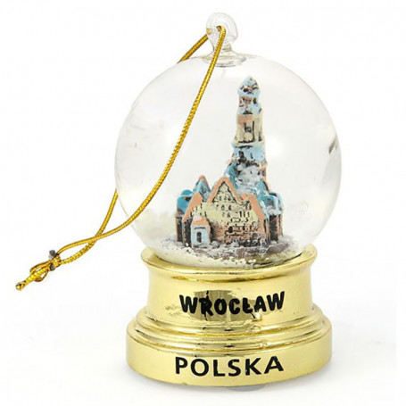 Bola de nieve Wroclaw Gold Hanging 45 mm
