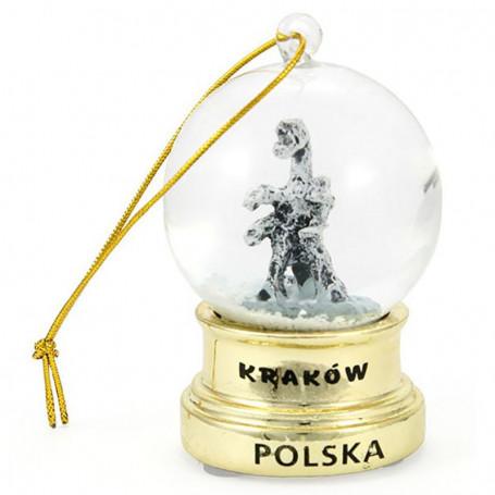 Bola de nieve Cracovia Złota colgante 45 mm