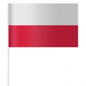 Bandera de papel de Polonia 15 x 21 cm