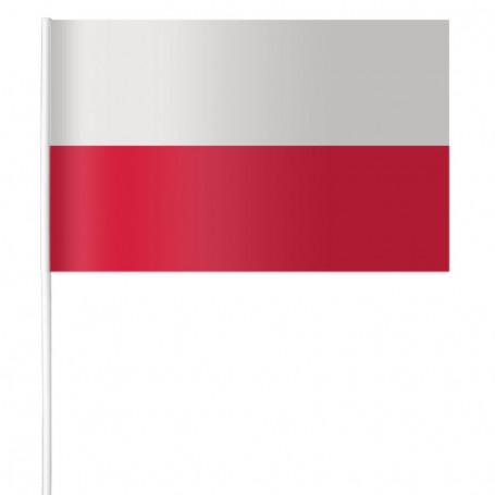 Papier drapeau de la Pologne 15 x 21 cm